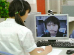 Face-to-face teaching with videophone system